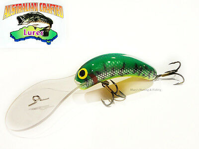 Australian Crafted Lures- cod 70mm invader Green col11 30ft a.c.lures