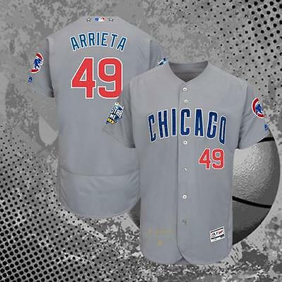 Chicago Cubs Jake Arrieta 49# Gray 2016 All Star Game Flex Baseball Jersey