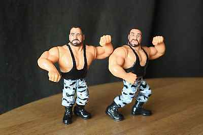 WWF Hasbro wrestling figures 'Bushwhackers' good condition with card