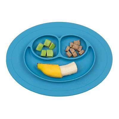 ezpz Mini Mat Baby Toddler Travel Feeding Silicone Placemat Dinnerware - Blue