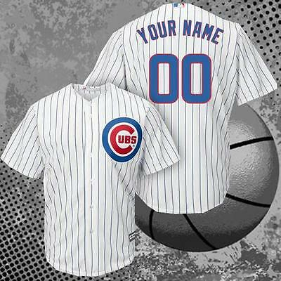 Chicago Cubs Baseball Custom Jersey Men White M-3XL