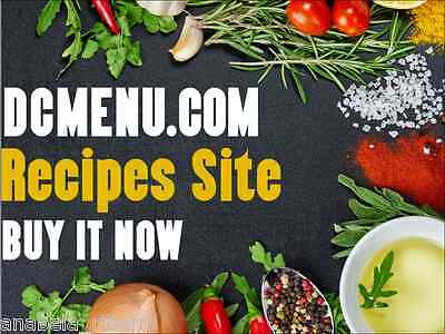 15-yr-old domain WITH  Recipes Site now on sale