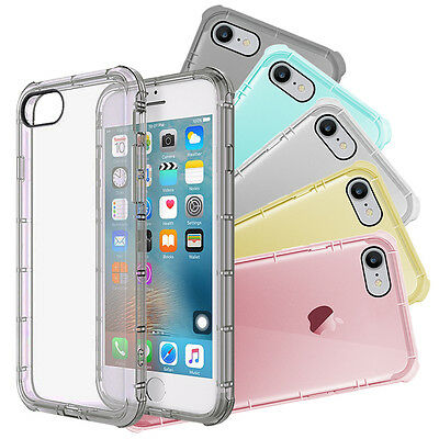 5 Pack Apple iPhone 7 Silicone Clear Cover Bumper Rubber Protective TPU Case