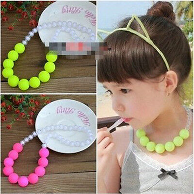 Girls Kids Necklaces Lovely Princess Children Jewelry Candy Color Accessories