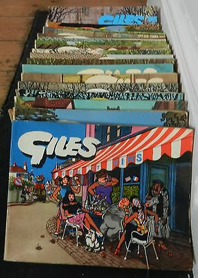 Giles cartoon collection annuals. 23 books. Earliest 1955. Express Newspapers