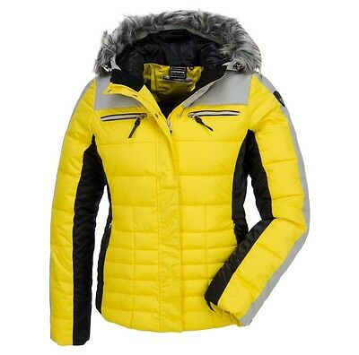 Ladies Icepeak Bright Yellow Ski Jacket