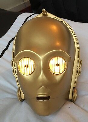 Star Wars C-3PO 1:1 scale helmet prop Mask Droid Gold & Light Up eyes Life Size