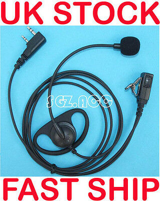 D-Shape Earpiece/Headset Boom Mic VOX/PTT Baofeng Radio UV-5R UV-3R New
