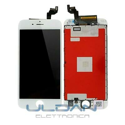 Display Schermo Iphone 6S Bianco Per Apple Touch Screen Lcd Retina Frame Vetro