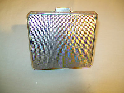 Silver Engine turned cigarette case with gilt interior Birmingham 1933