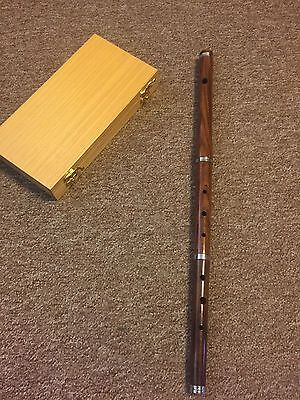 "23"" Irish D Flute Rosewood With Excellente Wooden Carry Box"