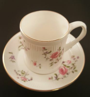 Crown Staffordshire Demitasse Cup & Saucer - Roses