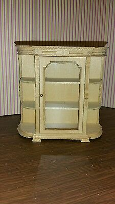 Dollhouse miniatures Bespaq Unfinished Vintage Library Case