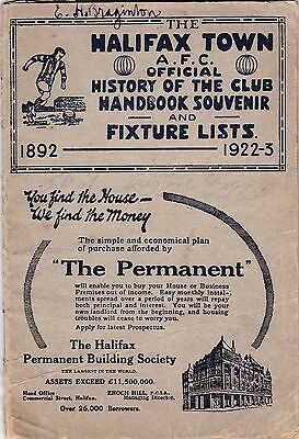 1892-1922/23 The Halifax Town Afc Official History Of The Club Handbook Souvenir