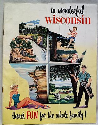 State Of Wisconsin Souvenir Advertising Travel & Tourism Brochure Guide 1949