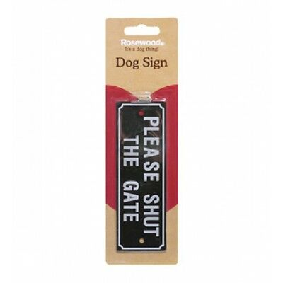 Rosewood Pet Training & Control Beware Dog Sign Please Shut The Gate with Screw