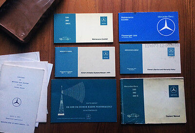 Mercedes W114 W115 Books Manuals Set 220 280 280C Owners Maintenance