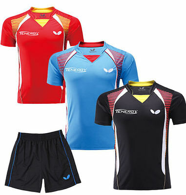 Free shipping men's Tops table tennis clothing Badminton T-shirt +Shorts 1627A