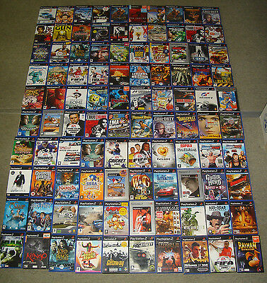 Job Lot 100 Assorted Ps2 Games Boxed Great Bundle For Resale (B)