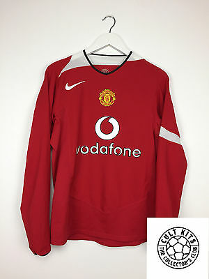 Manchester United HUGHES #7 04/06 L/S Home Football Shirt (S) Soccer Jersey