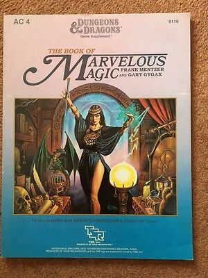 D&D: The Book of Marvelous Magic; game supplement