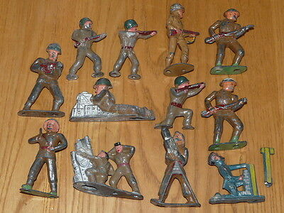 12 Barclay Manoil Toy Lead Soldiers