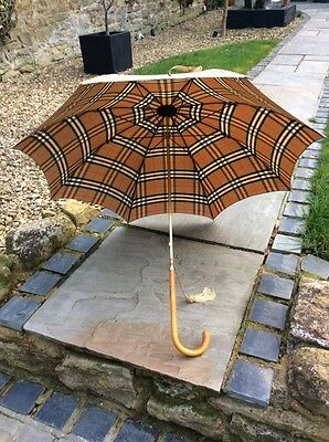 Vintage Burberry (Burberrys) Walking Stick Umbrella