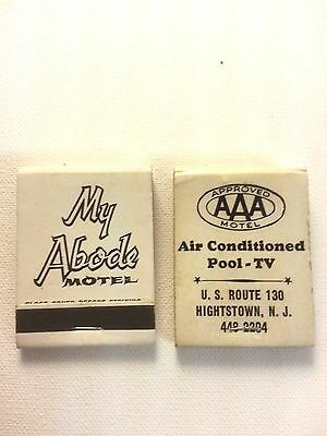 Lot of two Vintage Matchbooks My Abode Motel, Hightstown, N.J.