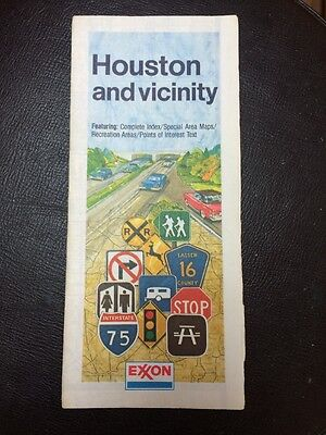Vintage Exxon Houston And Vicinity Road Map