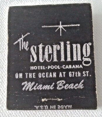 Vintage Matchbook The Sterling Hotel Miami Beach