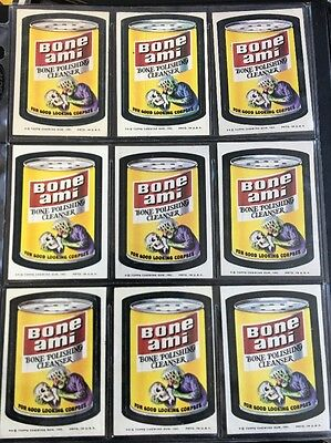 1974 ORIGINAL 8th SERIES Topps Wacky Packages Lot of 18 BON AMI Stickers