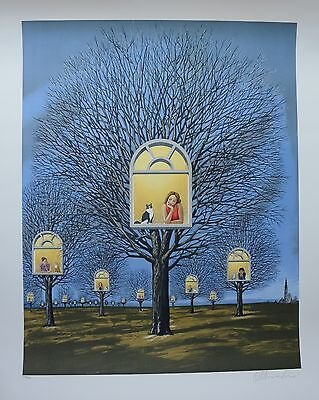 "Rafal Olbinski ""SUSPENDED PROMISES"" Signed and Numbered Lithograph with a COA"