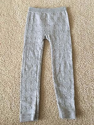 Faded Glory Girl's Gray Leggings, Patterned, Size 4-6X