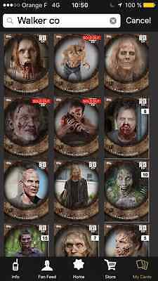 Topps the walking dead Full set walker collection with awards ( 3 waves )