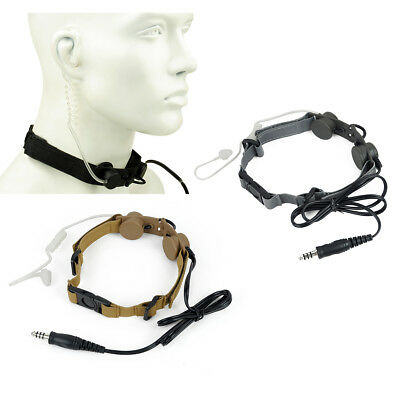 Z-Tactical Tactical Throat Mic Headset Dual Sensitive Z033 Airsoft Army Security