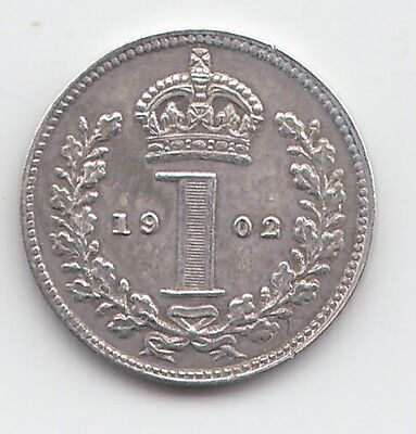 Very Rare Edward VII 1902 Matt Proof Silver Maundy Penny 1d