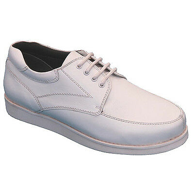 "EMSMORN ""WINDSOR"" GENTS LACE-UP BOWLS SHOES - WHITE  var.sizes.  FREE POSTAGE."