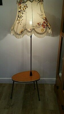 Vintage 1950's-60's Table and Lamp Combo - Combination