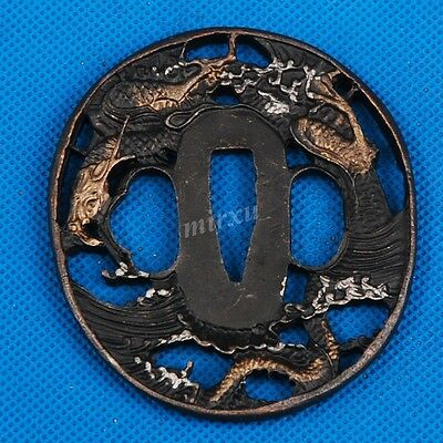 East Dragon Alloy Tsuba Handguard For Japanese Samurai Katana Wakizashi Sword