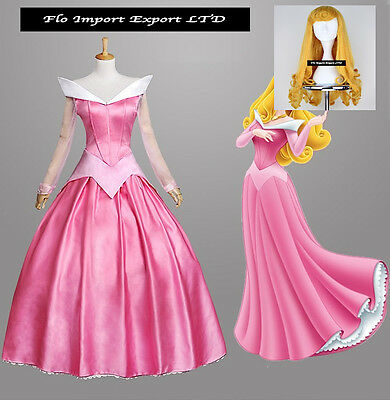 Aurora Vestito Carnevale Donna Dress up Sleeping Beauty Woman Costume AURW02