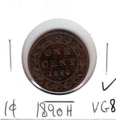 Canada VG8 1890H  Large cent  Victoria