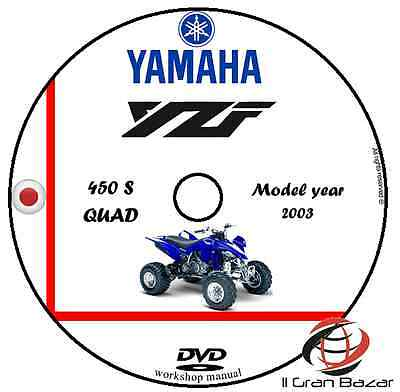 Manuale Officina Yamaha Yzf 450 S Quad My 2003 Workshop Manual Service Dvd