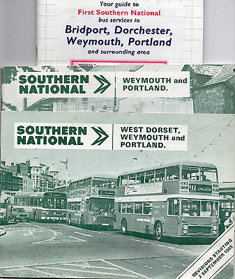 Southern National bus timetables x 3