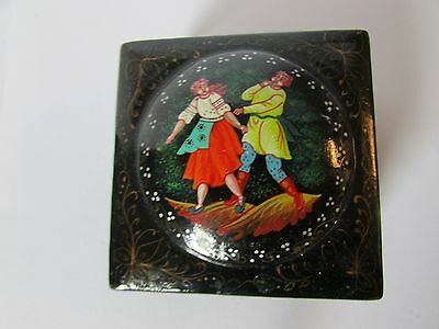 Russian hand-painted trinket box