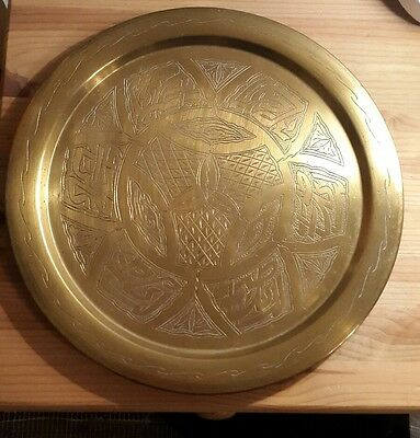 Vintage Brass wall hanging Charger/Tray