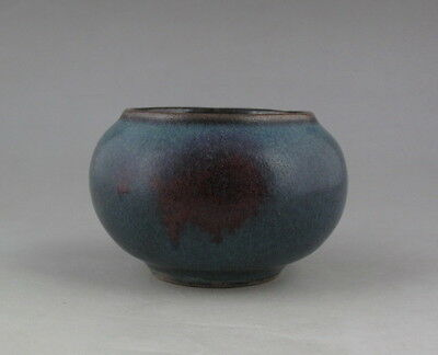 Small Chinese Antique Jun Porcelain Brush Washer H1096