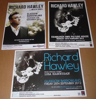 Richard Hawley posters - collection of 3 tour concert / gig poster