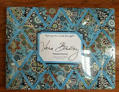NWT Vera Bradley BALI BLUE Ribbon Memo Message Picture Board