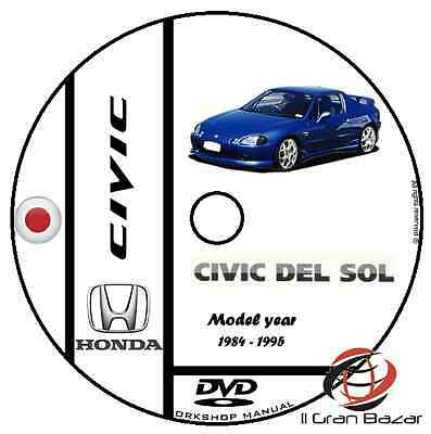 Manuale Officina Honda Civic Crx Del Sol My '85-'95 Workshop Manual Service Dvd