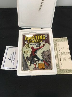 Amazing Fantasy #15 Franklin Plate Spider-Man Gold COA SP12